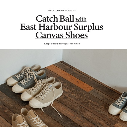 2020 ss lookbook catchball x east harbour surplus collaboration kurashiki hampu.