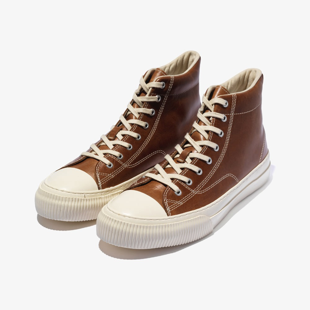 MILLITARY LEATHER HIGH _ BROWN